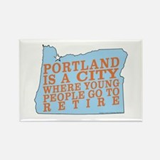 Portland is a City Rectangle Magnet