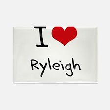 I Love Ryleigh Rectangle Magnet
