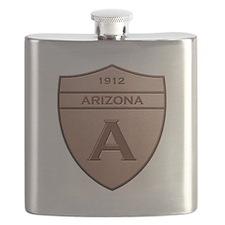 Copper Arizona 1912 Shield Flask