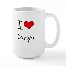 I Love Saniya Mug