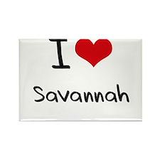 I Love Savannah Rectangle Magnet