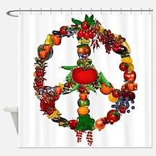 Veggie Peace Sign Shower Curtain