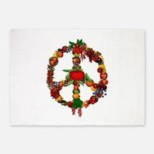Veggie Peace Sign 5'x7'Area Rug