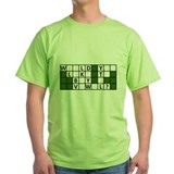 Wheel of fortune Green T-Shirt