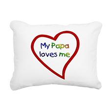 Papa Rectangular Canvas Pillow