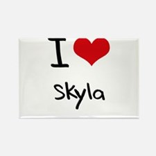 I Love Skyla Rectangle Magnet