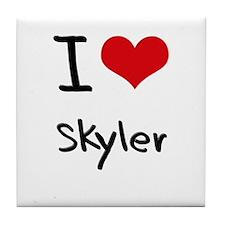 I Love Skyler Tile Coaster