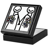Lesbian wedding Keepsake Boxes