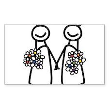 Lesbian wedding Decal