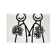 Lesbian wedding Rectangle Magnet