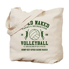 Co-Ed Naked Volleyball Tote Bag