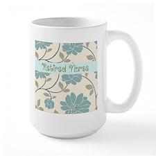retired nurse blue flower pillow Mug