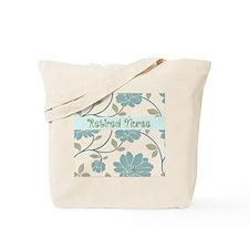retired nurse blue flower pillow Tote Bag
