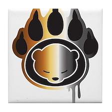 Bear footprint Tile Coaster
