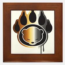 Bear footprint Framed Tile