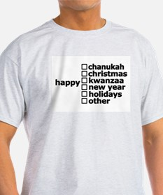 Generic Holiday Greeting Card Ash Grey T-Shirt