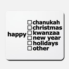 Generic Holiday Greeting Card Mousepad