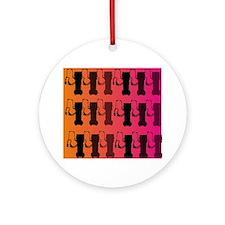 respiratory therapist all ove pink Ornament (Round