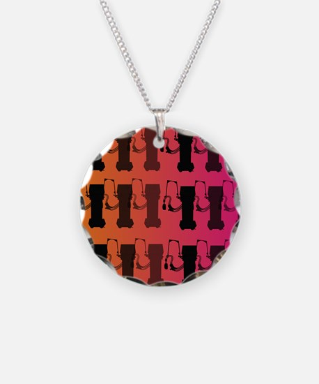 respiratory therapist all ove pink Necklace
