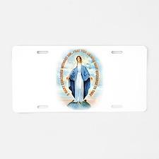 Miraculous Medal Aluminum License Plate