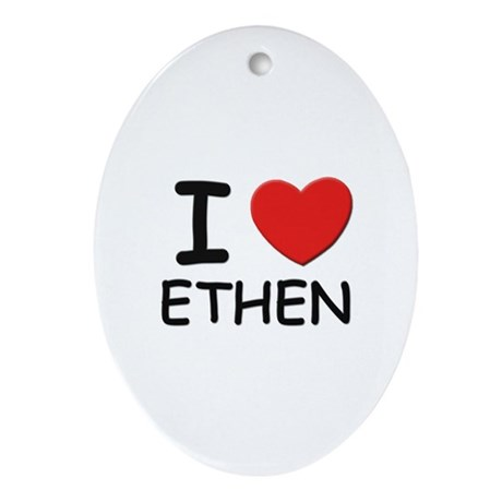 I love Ethen Oval Ornament