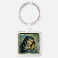 Our Lady of Sorrows Square Keychain