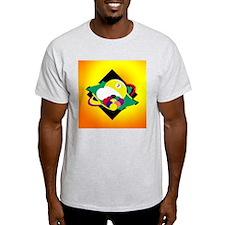 9 ball 3 Ash Grey T-Shirt