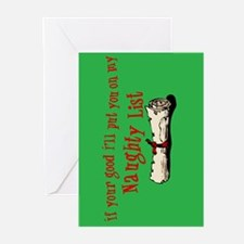 Naughty List Greeting Cards (Pk of 10)