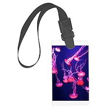 Neon Jellyfish Luggage Tag