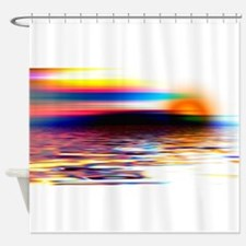 Abstract Horizon Shower Curtain
