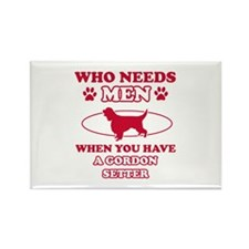 Funny Gordon Setter lover designs Rectangle Magnet
