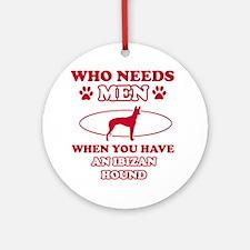 Funny Ibizan Hound lover designs Ornament (Round)