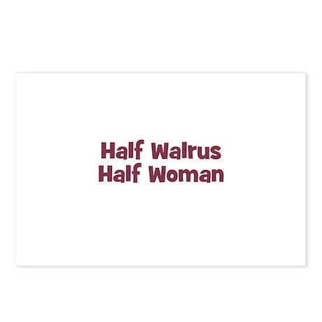 Half WALRUS Half Woman Postcards (Package of 8)