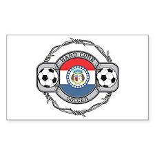 Missouri Soccer Rectangle Decal
