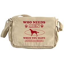 Funny Irish Setter lover designs Messenger Bag