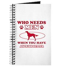 Funny Irish Setter lover designs Journal