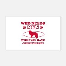 Funny Newfoundland lover designs Car Magnet 20 x 1