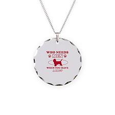 Funny PBGV lover designs Necklace