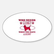 Funny PBGV lover designs Decal