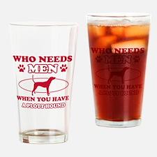 Funny Plott Hound lover designs Drinking Glass