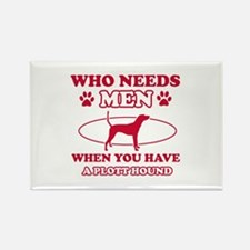 Funny Plott Hound lover designs Rectangle Magnet (