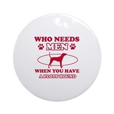 Funny Plott Hound lover designs Ornament (Round)