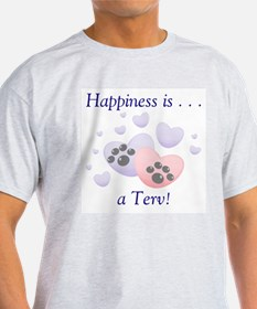 Happiness is...a Terv Ash Grey T-Shirt