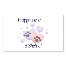 Happiness is...a Sheltie Rectangle Decal