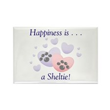 Happiness is...a Sheltie Rectangle Magnet (10 pack