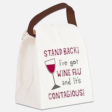 Wine Flu Canvas Lunch Bag