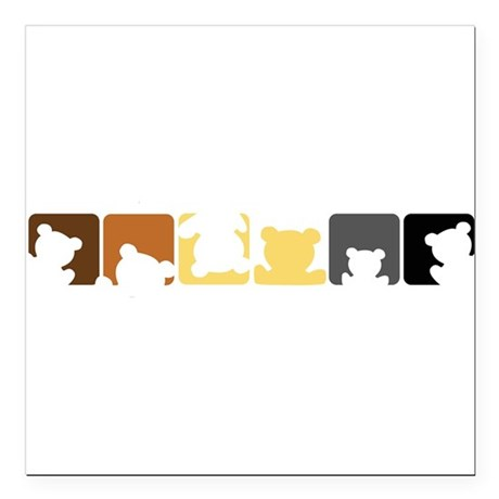 "Bear Pride Square Car Magnet 3"" x 3"""