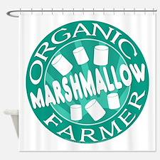 Organic Marshmallow Farmer Shower Curtain