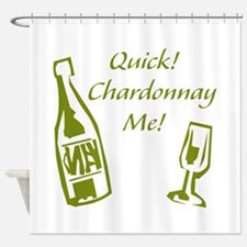 Chardonnay Me Shower Curtain