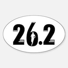26.2 run Sticker (Oval)